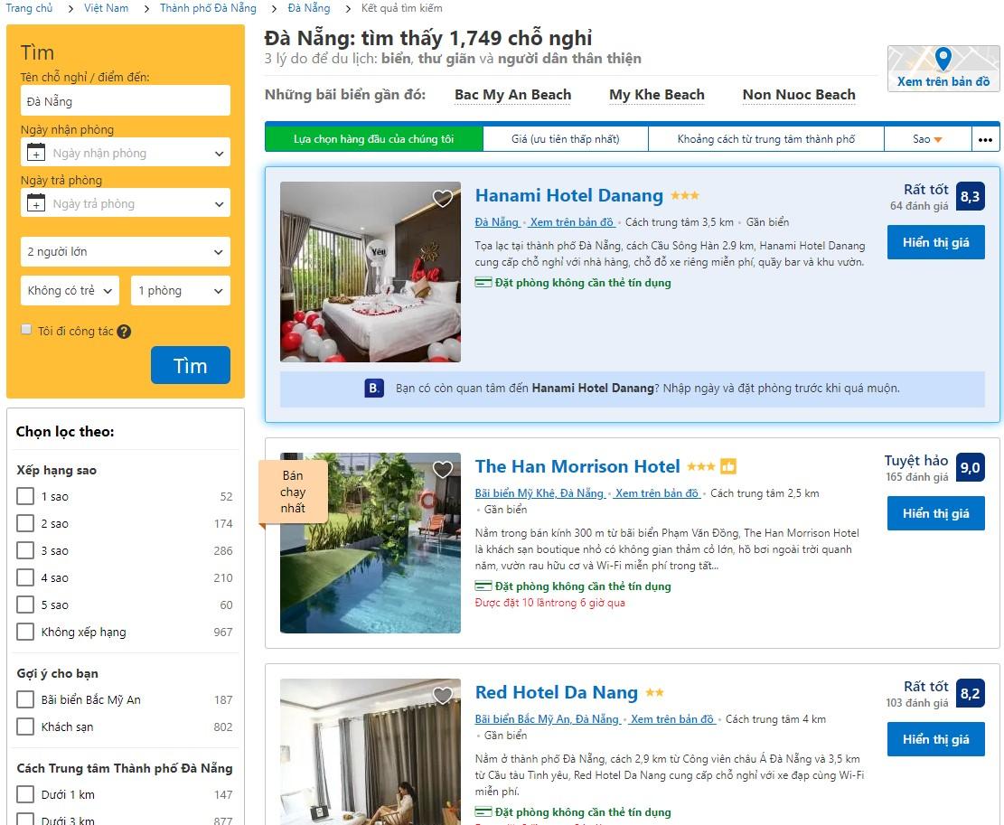 Đặt phòng khách sạn đà nẵng online